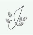 handwritten letter i monogram or logo brand vector image