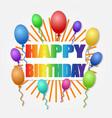 happy birthday pop art style decor stock vector image