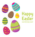 happy easter easter egg hunt background vector image vector image