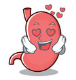 in love stomach character cartoon mascot vector image
