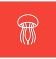 Jellyfish line icon vector image vector image