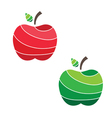 juicy apples vector image vector image