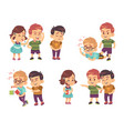 kids bullying verbal and physical social conflict vector image