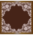Lace frame vector image