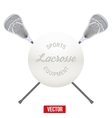 Lacrosse ball and sticks vector image vector image
