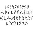 Latin alphabet stylized vector image