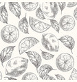lemons hand drawn sketch seamless pattern vector image vector image