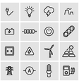 line electricity icon set vector image vector image