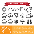 Line icons set 17 vector image vector image