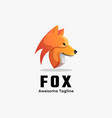 logo fox gradient colorful style vector image vector image
