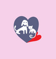 love pet logo vector image vector image