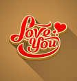 Love you modern message valentine day vector image vector image