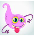 lovely cartoon flying monster blob vector image vector image