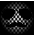 man face outline with sunglasses vector image vector image