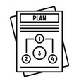 management plan icon outline style vector image vector image