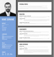 minimalistic cv resume template vector image vector image