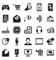 mobile device icons set simple style vector image vector image