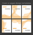 modern flat wavy and smoky orange brochure cover vector image vector image