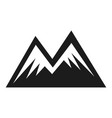 mountain shape icon two peak adventure symbol vector image vector image