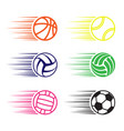 moving balls set vector image vector image