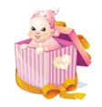 newborn girl vector image vector image