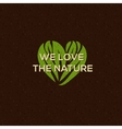 Organic food logo emblem for natural food drink vector image vector image