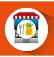 pineapple online shopping app vector image