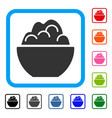 porridge bowl framed icon vector image