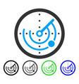 radar flat icon vector image vector image