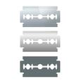 Razor Blade Set vector image vector image