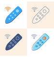 remote controller icon set in flat and line style vector image