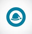 santas hat icon bold blue circle border vector image vector image