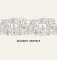 security protect banner concept vector image