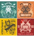 Set of vintage motorcycle labels stpck vector image