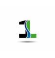 sign number 1 logo vector image