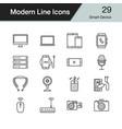 smart device icons modern line design set 29 for vector image