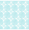 snowflakes ornamental seamless pattern blue vector image