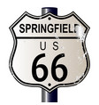 springfield route 66 sign vector image vector image