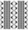 striped floral seamless border pattern white vector image