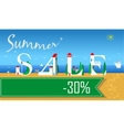 Summer Sale Thirty percents Summer beach vector image vector image