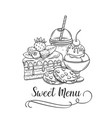 sweet icon retro style vector image vector image