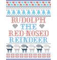 the red-nosed reindeer scandinavian style vector image vector image
