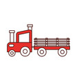 tractor farm with carriage vector image vector image