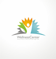 Wellness center logo design concept vector image vector image