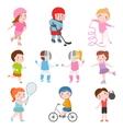 Kids sport games vector image