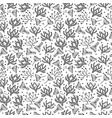 seamless floral pattern in doodle style on white vector image