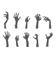 Zombie Hands Sticking out from the Ground vector image