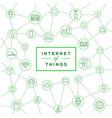 70 internet things b vector image vector image