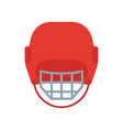 a hockey helmet vector image