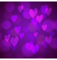 Abstract background with bokeh hearts vector image vector image